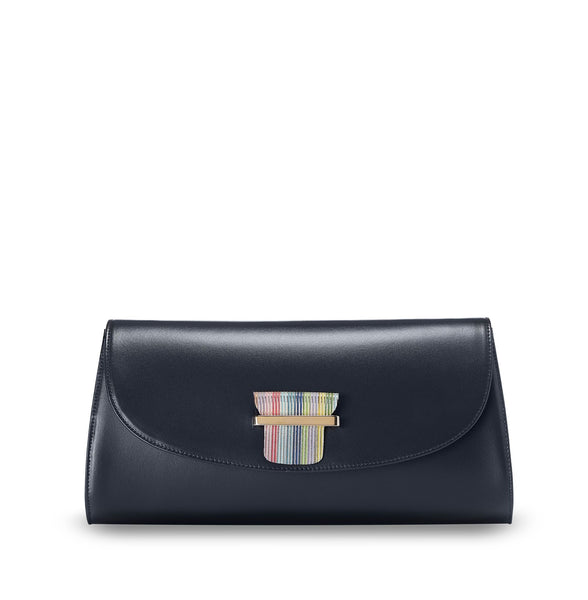 ESME CLUTCH - NAVY BLUE
