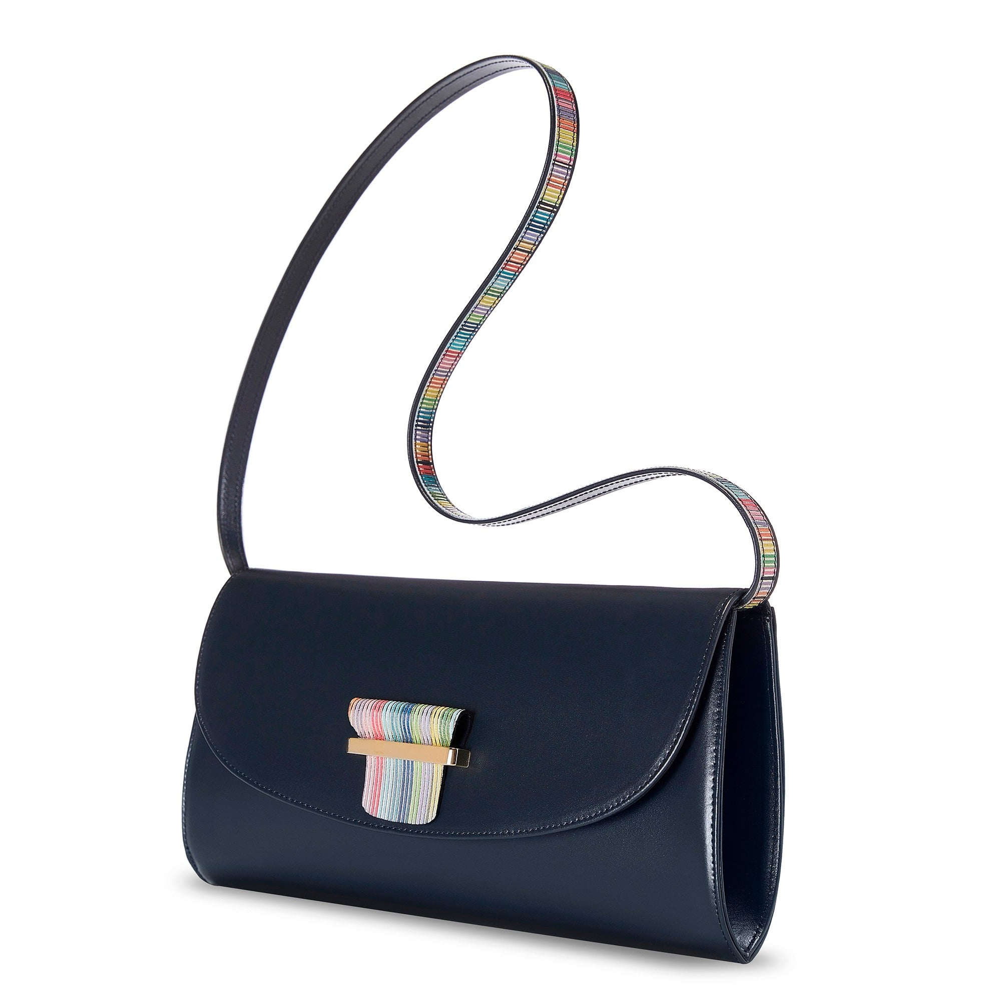 ESME CLUTCH - NAVY BLUE - NOTTEVERA