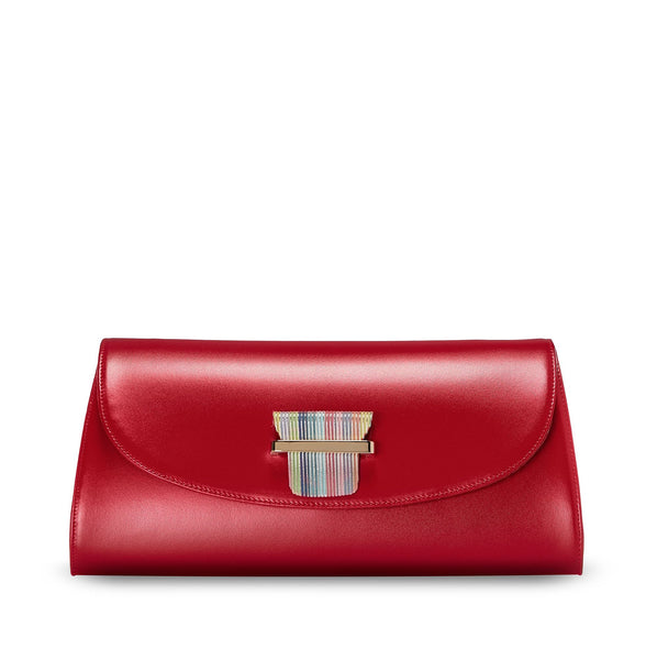 ESME CLUTCH - RUBY RED