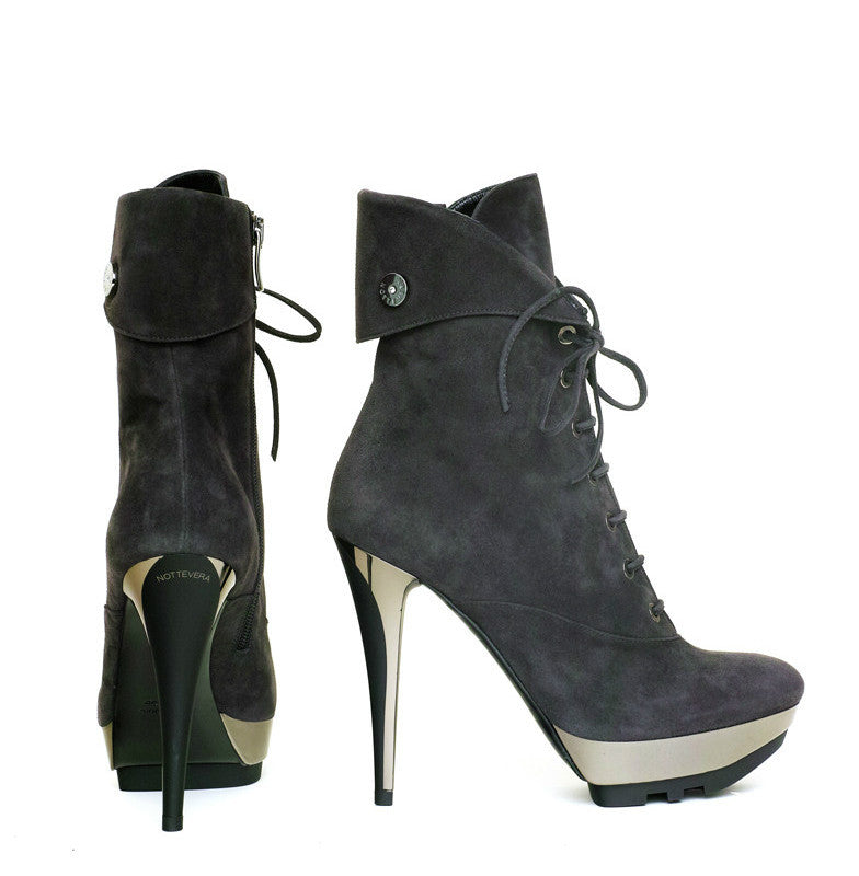 GRINTA SUEDE LACE-UP BOOT - NOTTEVERA - 1