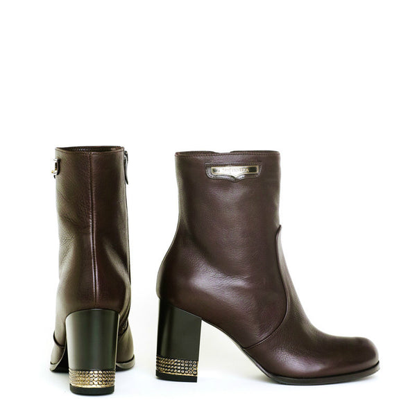 VEGAS BROWN NAPPA BOOTIE