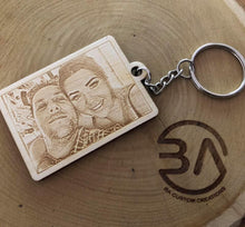 Load image into Gallery viewer, Laser Engraved Photograph Keyrings