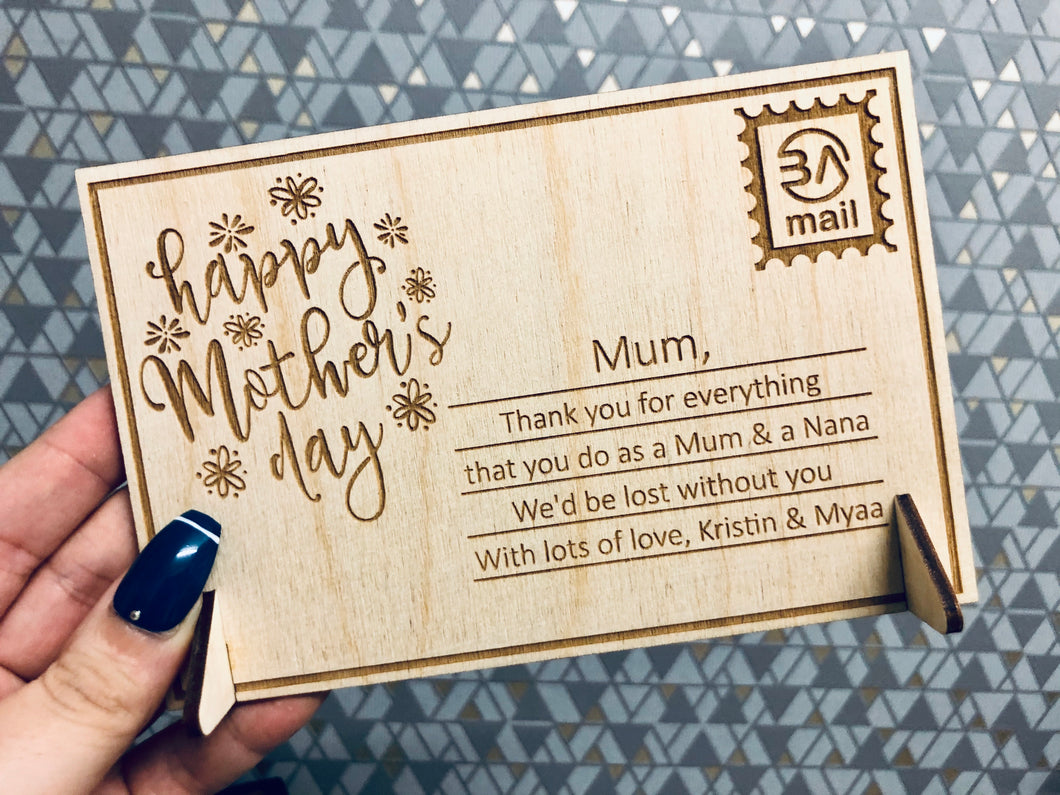 Happy Mother's Day - Personalised Greetings Card