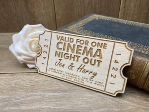 Personalised Cinema Night Out Coupon