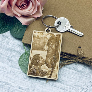 Laser Engraved Photograph Keyrings