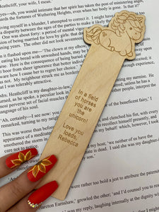 Unicorn Character Bookmark