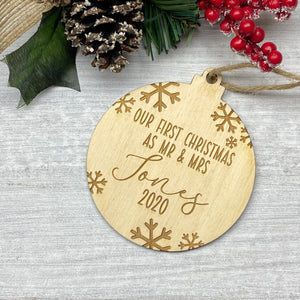 Our First Christmas Personalised Bauble