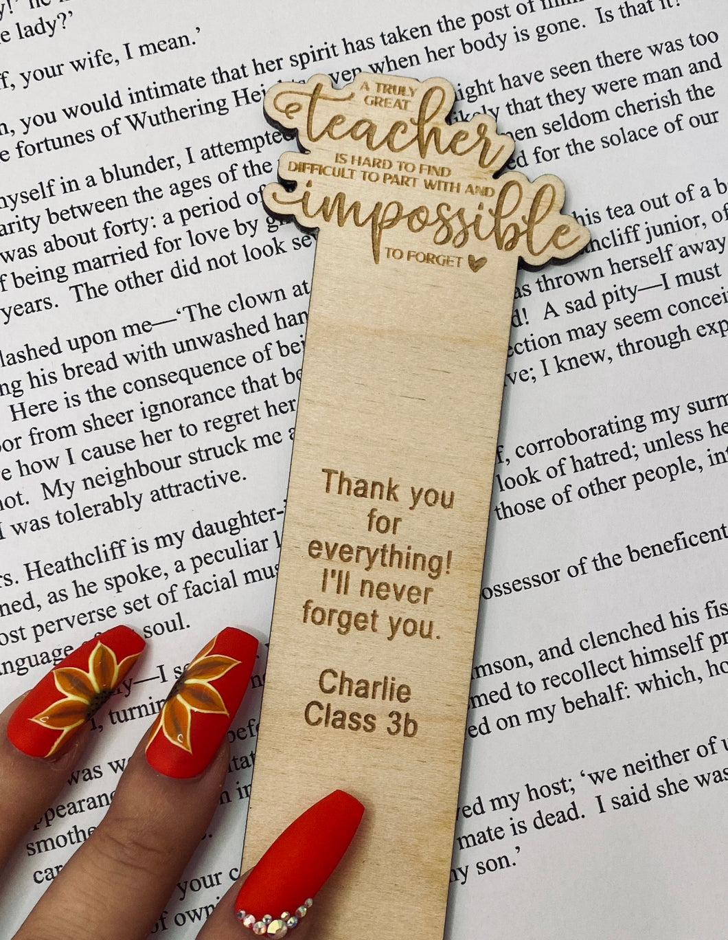 A Truly Great Teacher - Bookmark