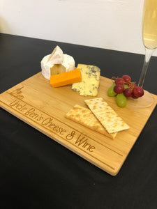 Personalised Wooden Cheese & Wine Board
