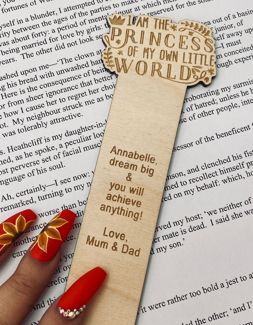 Princess of my own World Bookmark