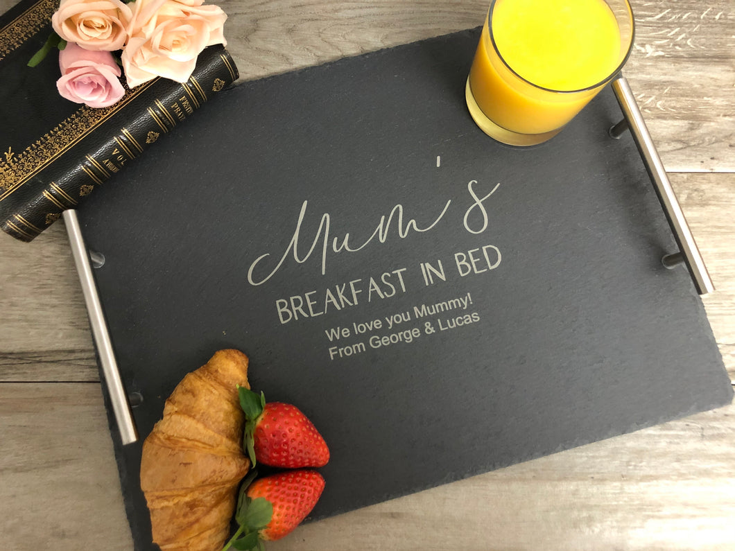 Mum's Breakfast in Bed - Slate Tray