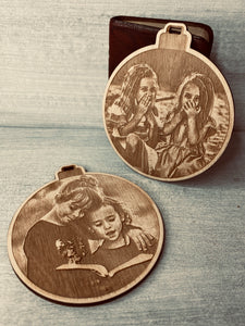 Photograph Wooden Tree Decoration
