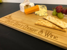 Load image into Gallery viewer, Personalised Wooden Cheese & Wine Board