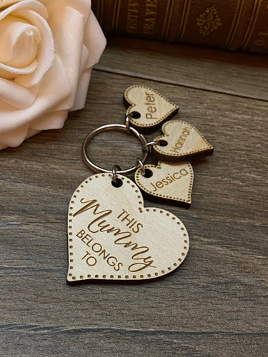 This Mummy Belongs to.. Personalised Keyring