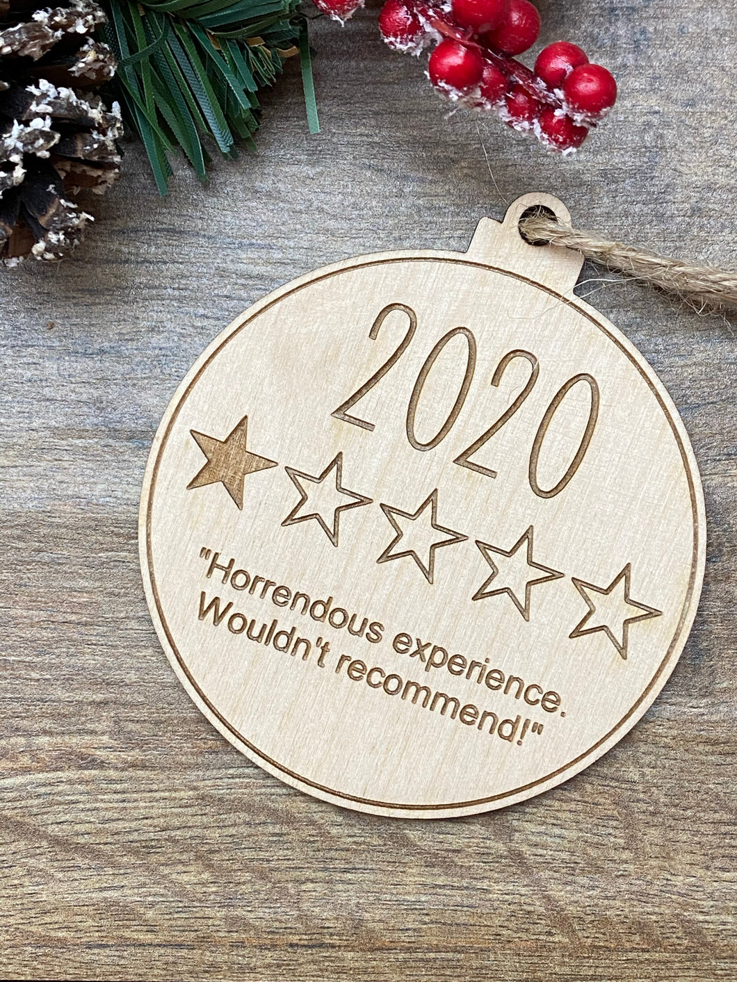 2020, 1 star - Funny Christmas Bauble