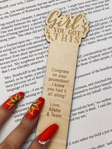 Girl, you got this! - Bookmark
