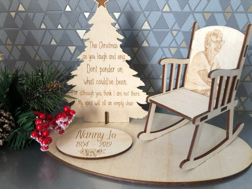 """This Christmas"" Memorial Chair"