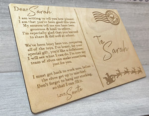 Letter From Santa - Wooden Postcard