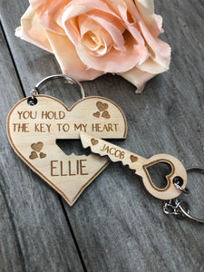 Key To My Heart - Keyring Duo