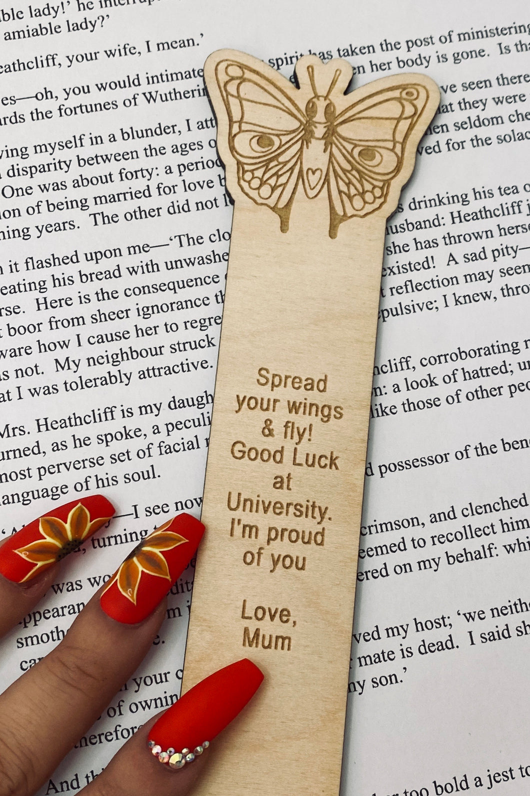 Pretty Butterfly Character Bookmark
