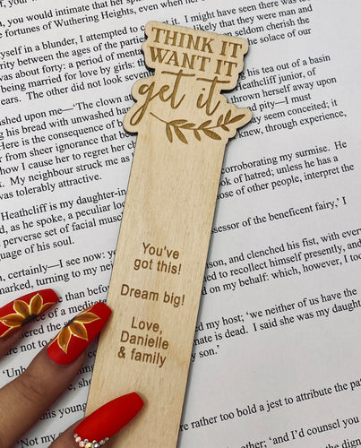 Think it, want it, get it - Bookmark