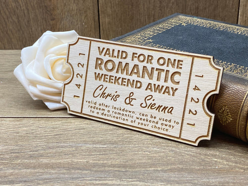 Personalised Romantic Weekend Away Coupon