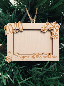 2020, year of the lockdown - Tree hanging memory frame