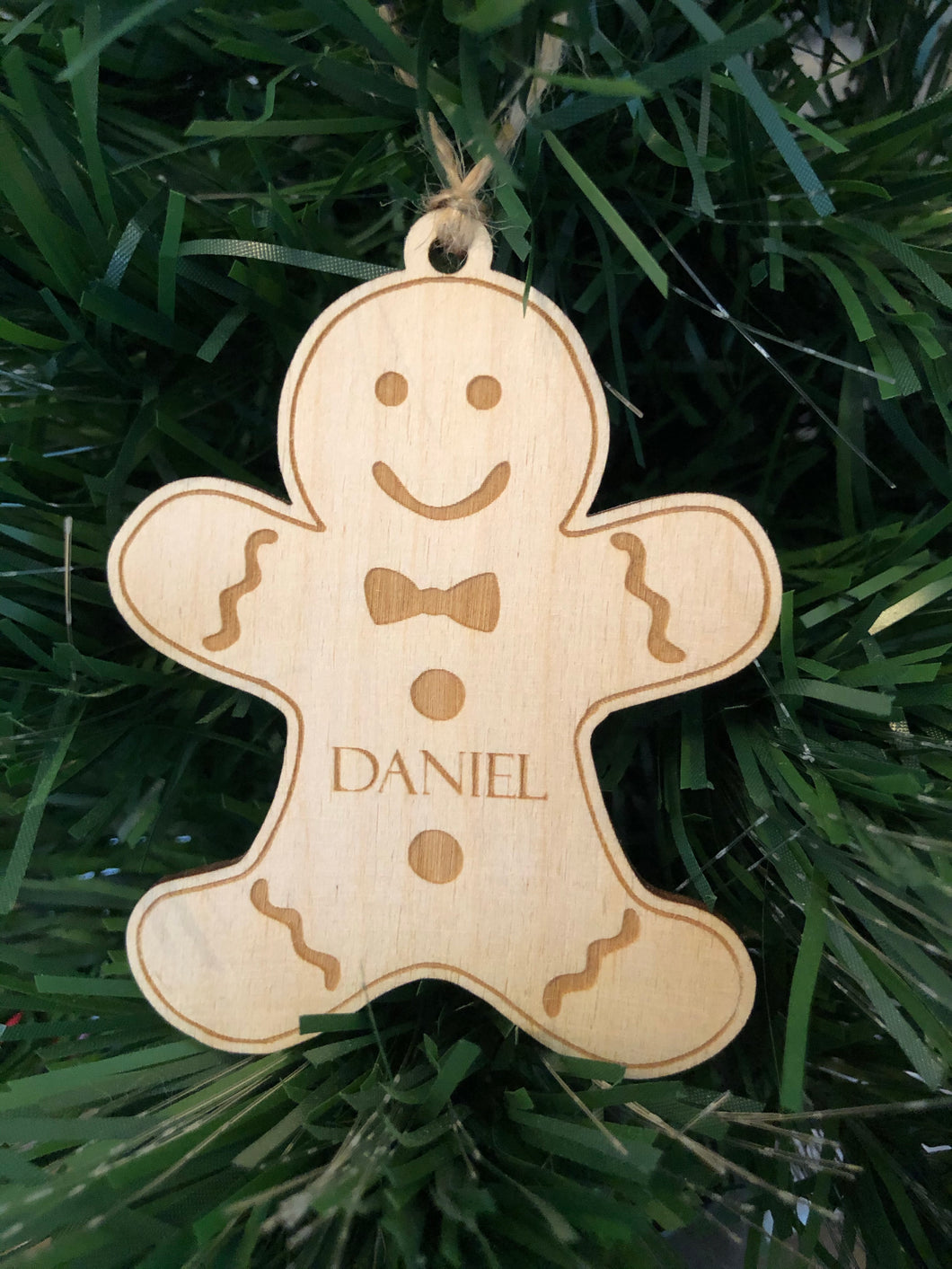 Personalised Wooden Gingerbread Decoration