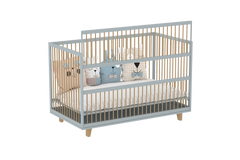 Amour Co Sleeping Crib in Steam Grey