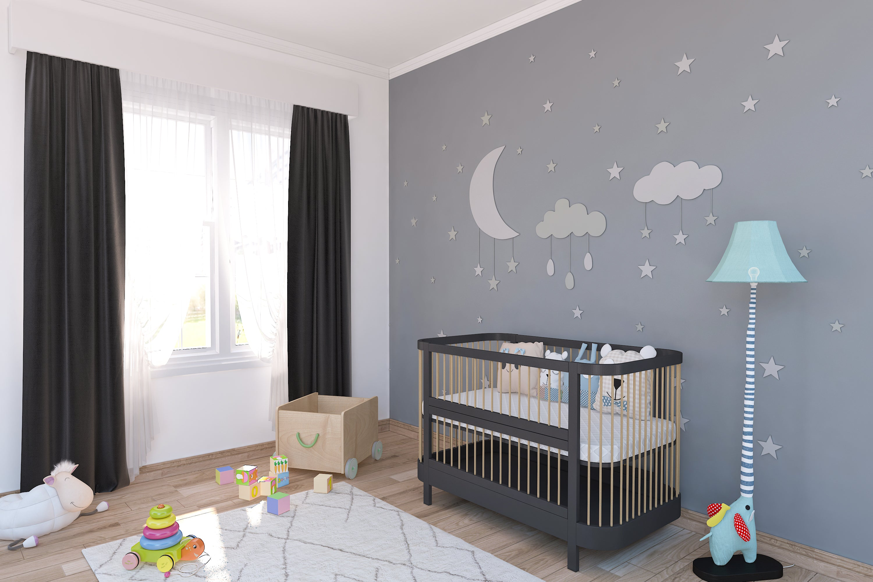 LittleBird Feather Crib