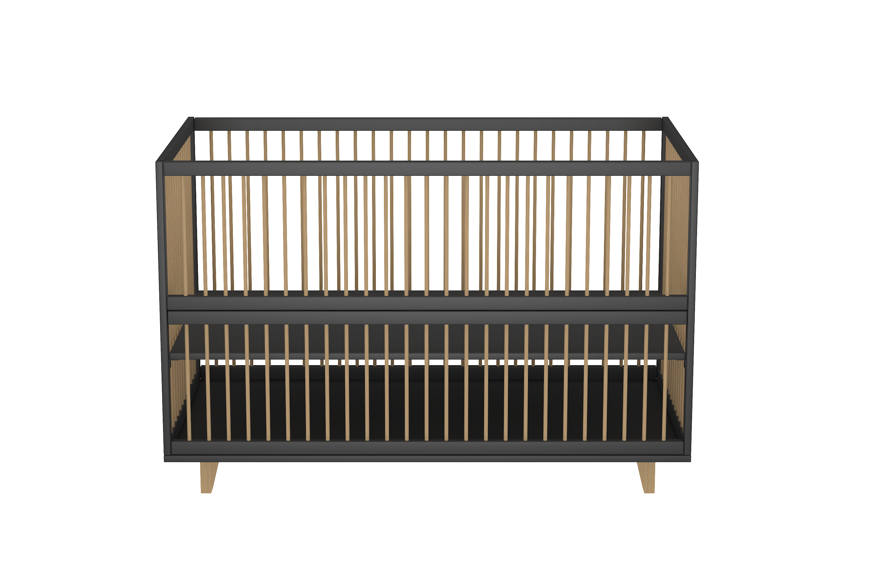 Amour Co Sleeping Crib in Midnight Black
