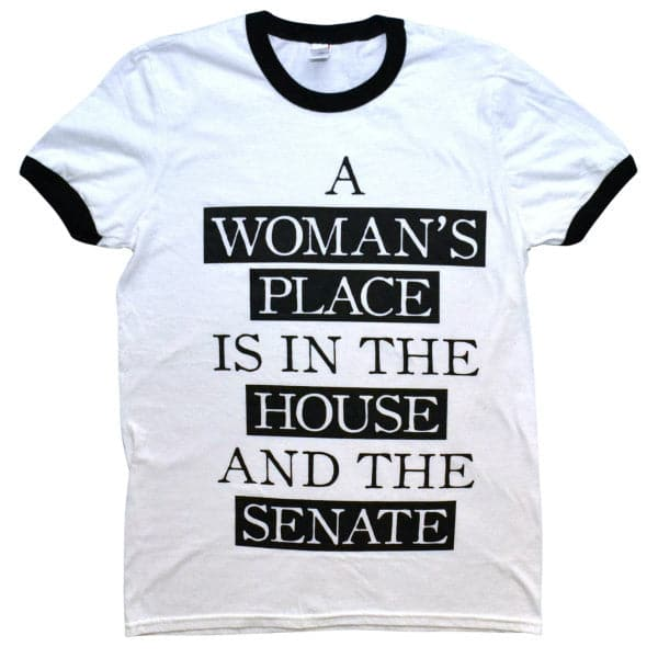 'A Woman's Place' Ringer Shirt