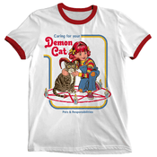 'Demon Cat' Ringer Shirt