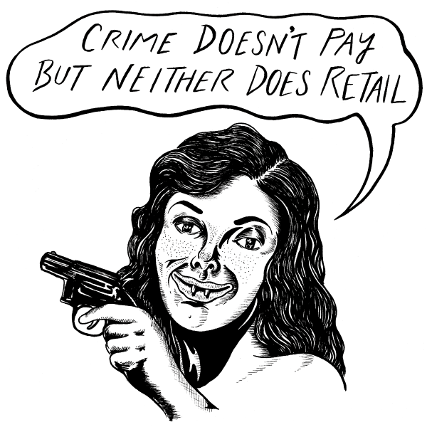 'Crime Doesn't Pay' Ringer Shirt