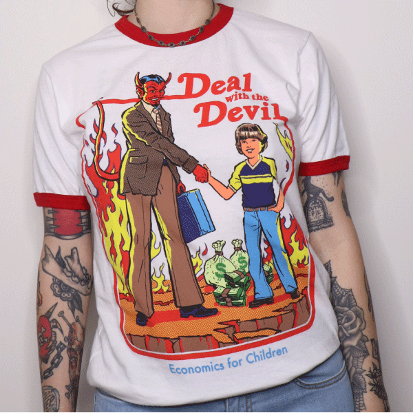 'Deal With the Devil' Ringer Shirt