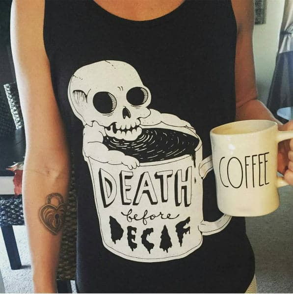 'Death Before Decaf' Tank Top