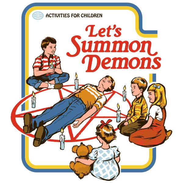 'Let's Summon Demons' Ringer Shirt