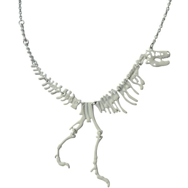 Dinosaur Fossil Necklace (White)