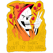 'Don't Try Too Hard' Enamel Pin