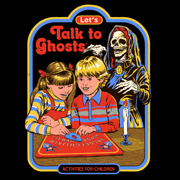 'Let's Talk to Ghosts' Ringer Shirt