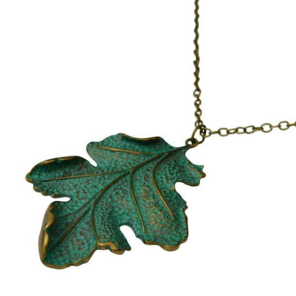 Gold Filigree Leaf Necklace
