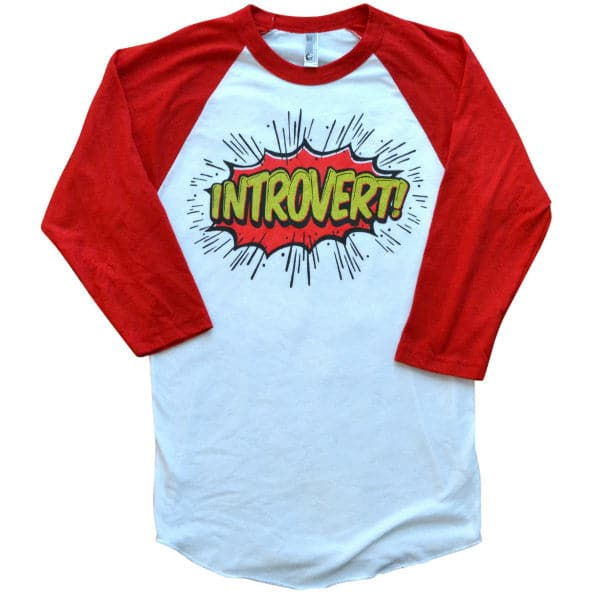 'Introvert' Baseball Shirt