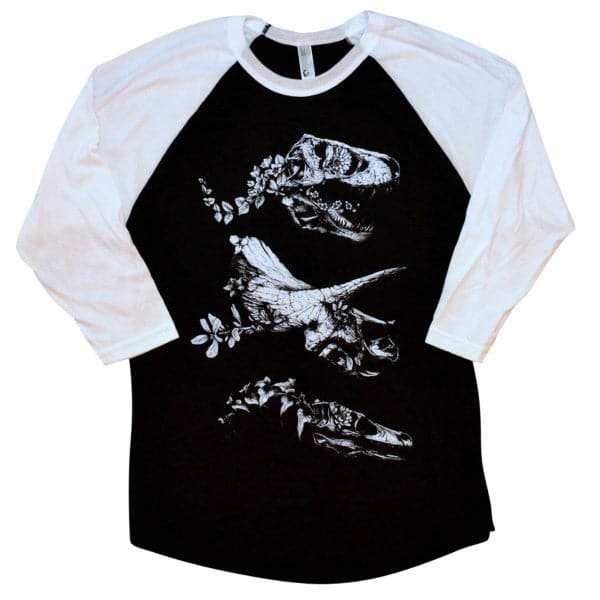 'Jurassic Bloom' Baseball Shirt