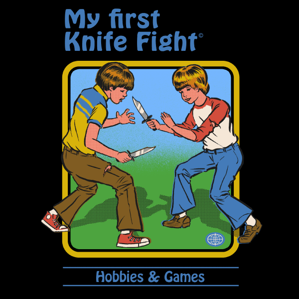 'My First Knife Fight' Ringer Shirt