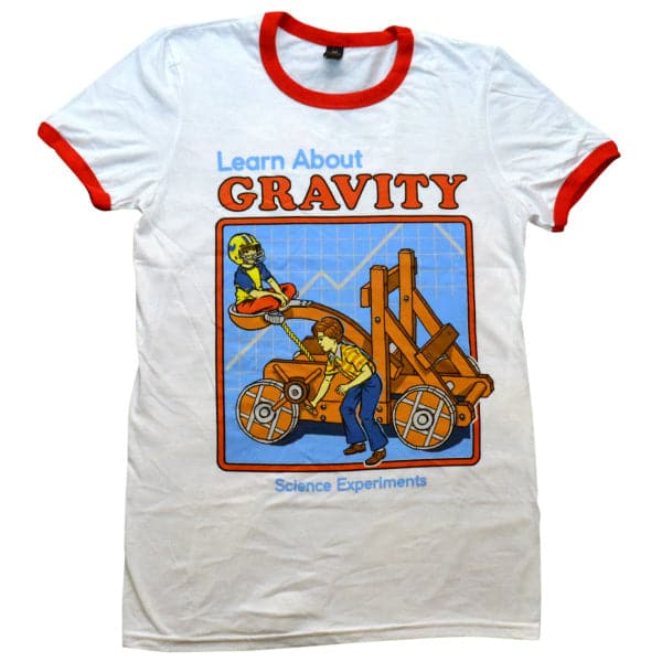 'Learn About Gravity' Ringer Shirt