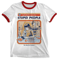 'Cure For Stupid People' Ringer Shirt