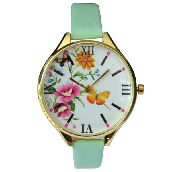 Mint Floral Watch