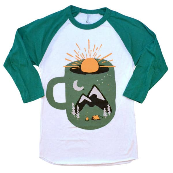 'Mountain Morning Wake Up' Baseball Shirt