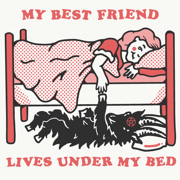 'Under My Bed' Ringer Shirt