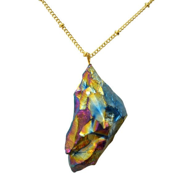 Natural Rainbow Quartz Necklace